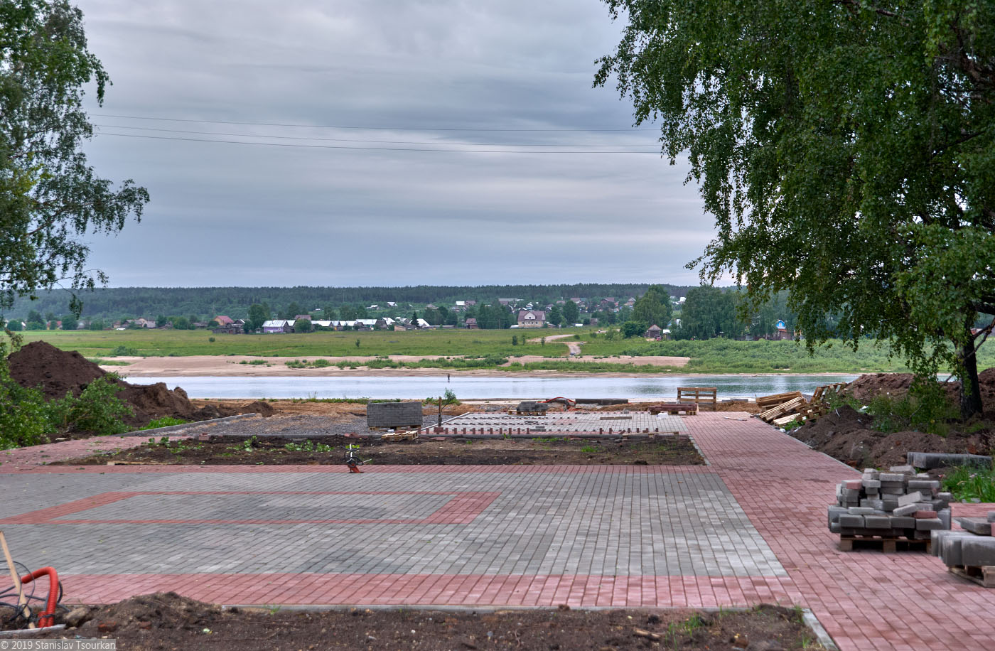 Вологодская область, Вологодчина, Великий устюг, Русский север, площадь Ленина, Сухона