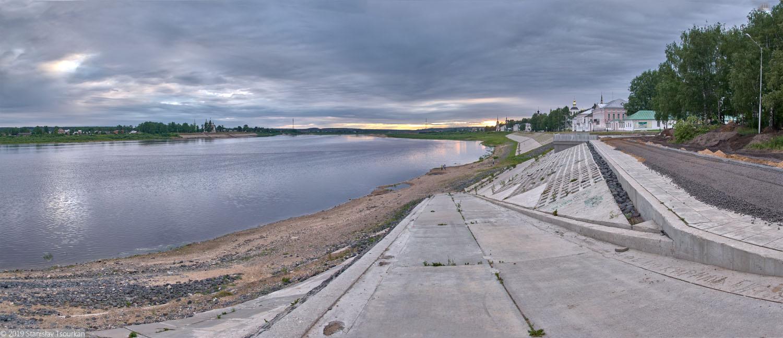 Володгодская область, Вологодчина, Великий устюг, Русский север, Сухона, набережная