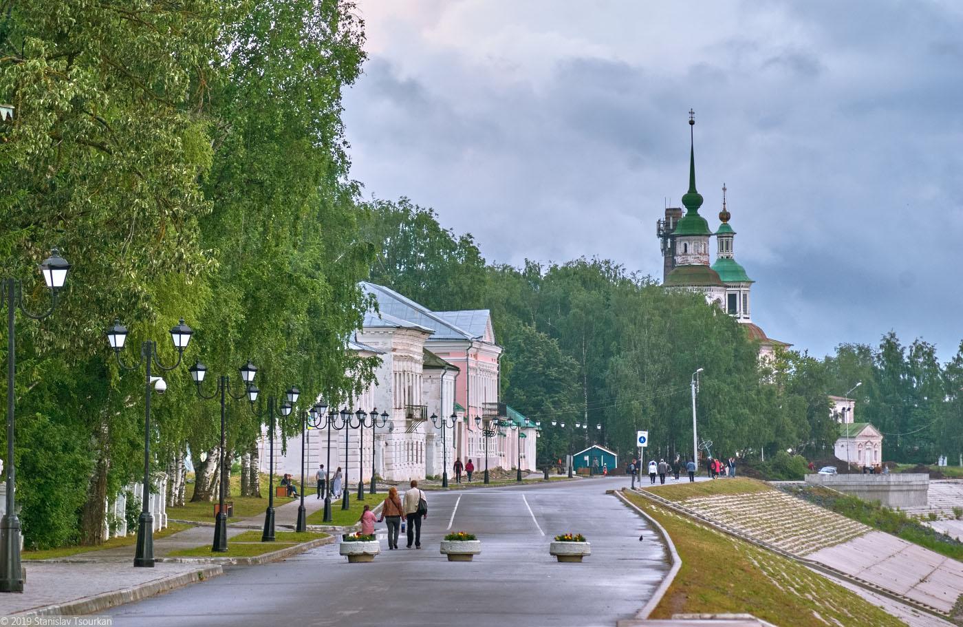 Вологодская область, Вологодчина, Великий устюг, Русский север, набережная, Набережная улица