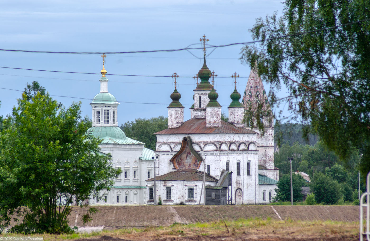 Вологодская область, Вологодчина, Великий устюг, Русский север, Дымково, Сергиевская церковь, Димитриевская церковь