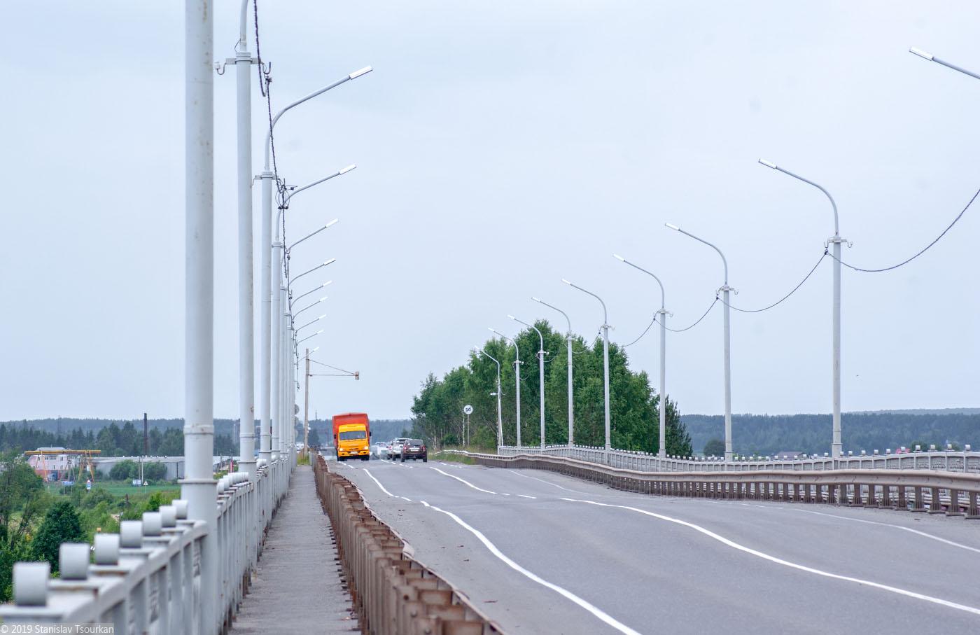 Вологодская область, Вологодчина, Великий устюг, Русский север, танцующий мост, мост через Сухону
