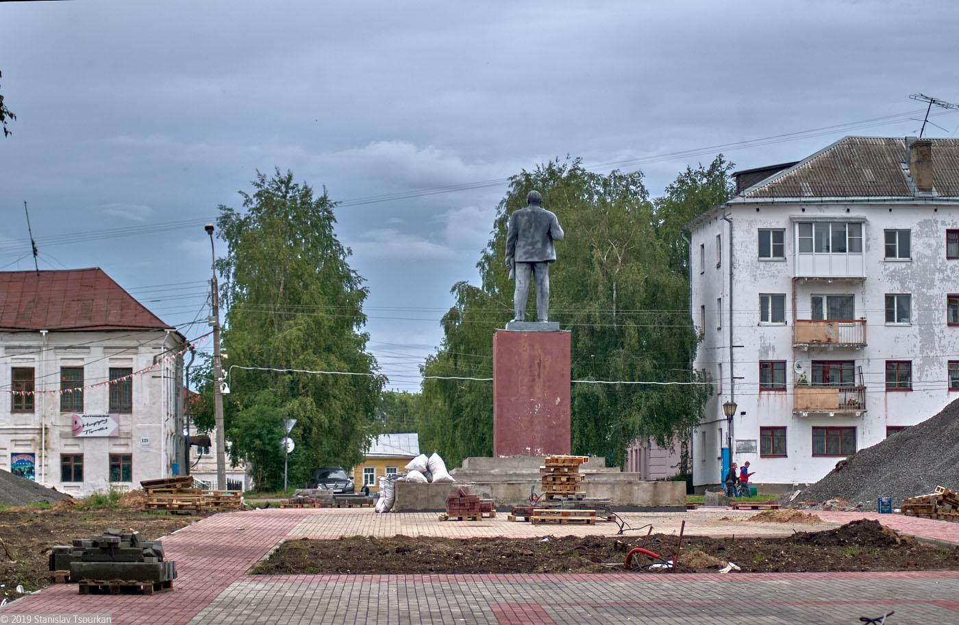 Вологодская область, Вологодчина, Великий устюг, Русский север, площадь Ленина