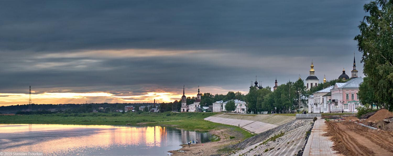 Вологодская область, Вологодчина, Великий устюг, Русский север, набережная, Сухона