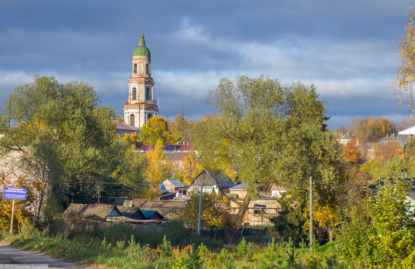 Красный Холм,колокольня, колокольня Троицкого собора