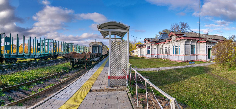 ж/д вокзал, станция Красный холм, вокзал, деревянный вокзал, Красный холм, платформа