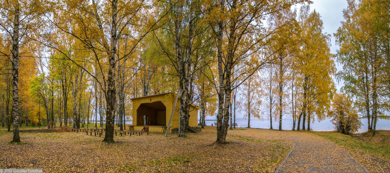 Весьегонск, Приморский парк, Рыбинское море, Рыбинское водохранилище, сцена