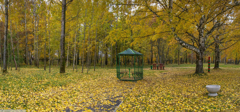 Весьегонск, Приморский парк, Рыбинское море, Рыбинское водохранилище, беседка