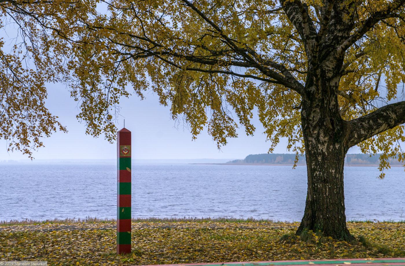 Весьегонск, Приморский парк, памятник пограничникам, пограничный столб, Рыбинское море, Рыбинское водохранилице