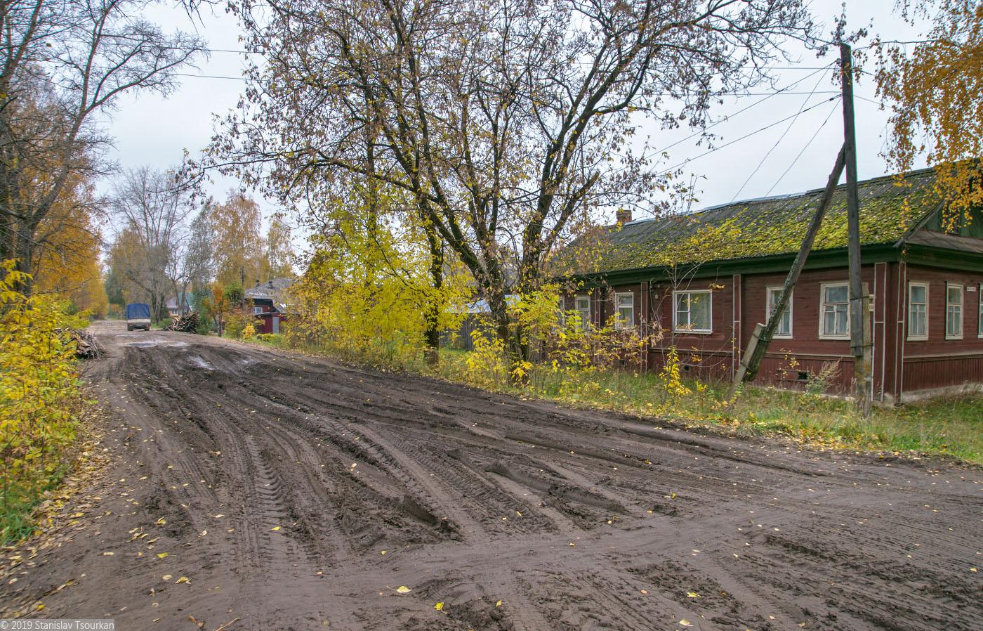 Весьегонск, Тверская область, улица Карла Маркса, бездорожье, нет асфальта