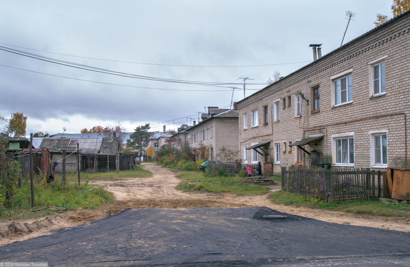 Весьегонск, Тверская область, асфальт, улица Панфилова