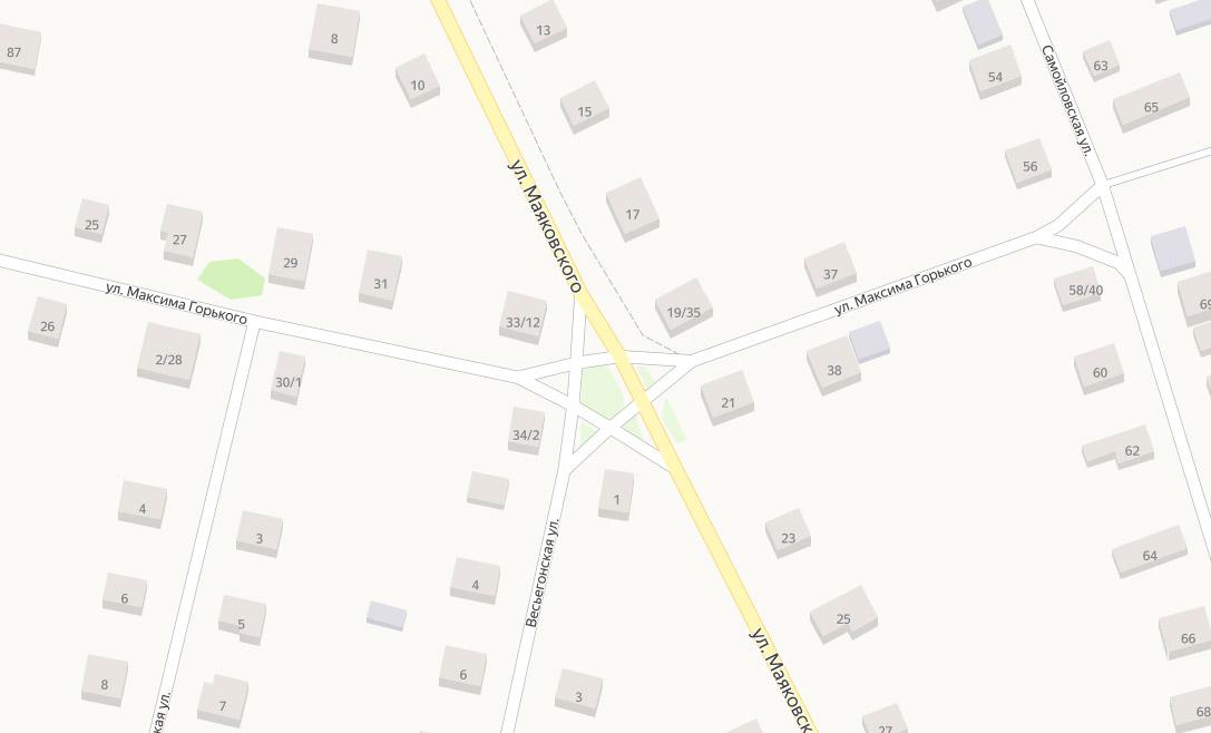 Весьегонск, пентаграмма, улица Маяковского, улица Горького, улица Весьегонская