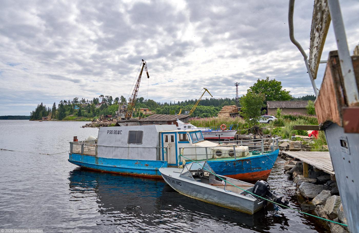 Лахденпохья, Карелия, республика Карелия, Ладожское озеро, причал