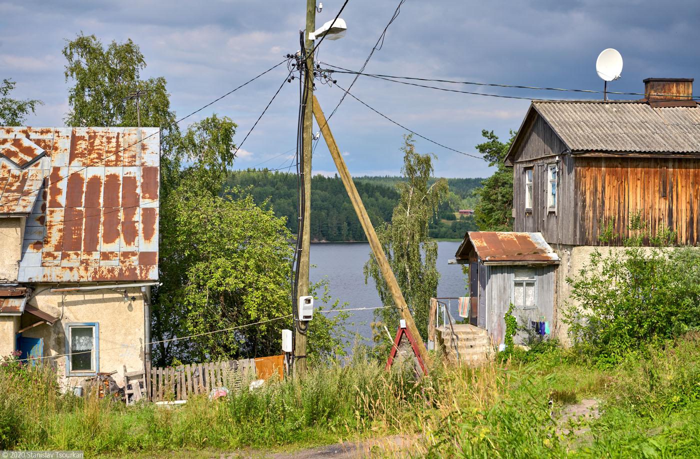 Лахденпохья, Карелия, республика Карелия, Заводская улица, финские дома