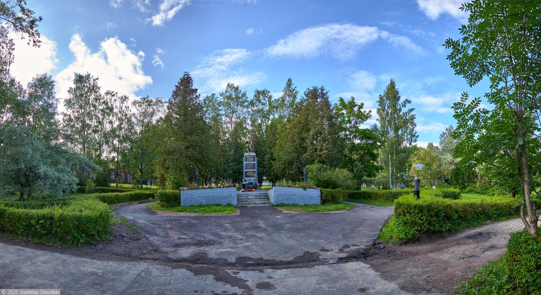 Лахденпохья, Карелия, республика Карелия, городской сквер, памятник, вечная память воинам