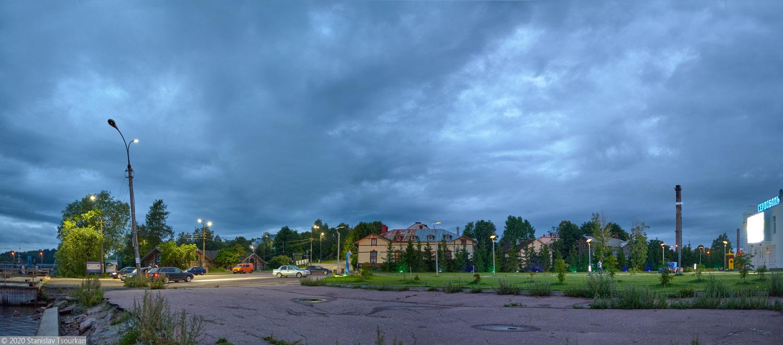 Сортавала, Карелия, республика Карелия, вечер, вечер в городе, Ляппяярви, набережная