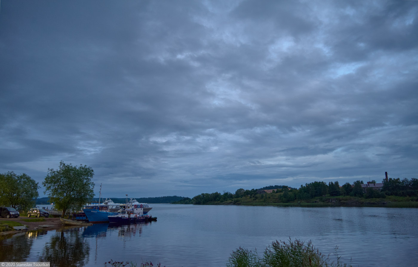 Сортавала, Карелия, республика Карелия, вечер, вечер в городе, Ляппяярви, причал, озеро