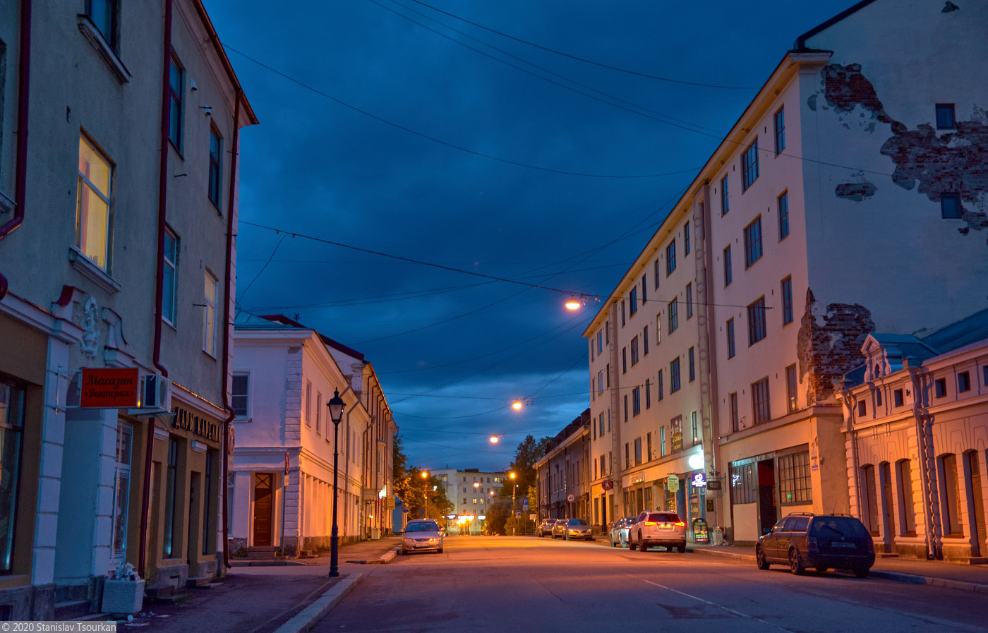 Сортавала, Карелия, республика Карелия, вечер, вечер в городе, Комсомольская улица