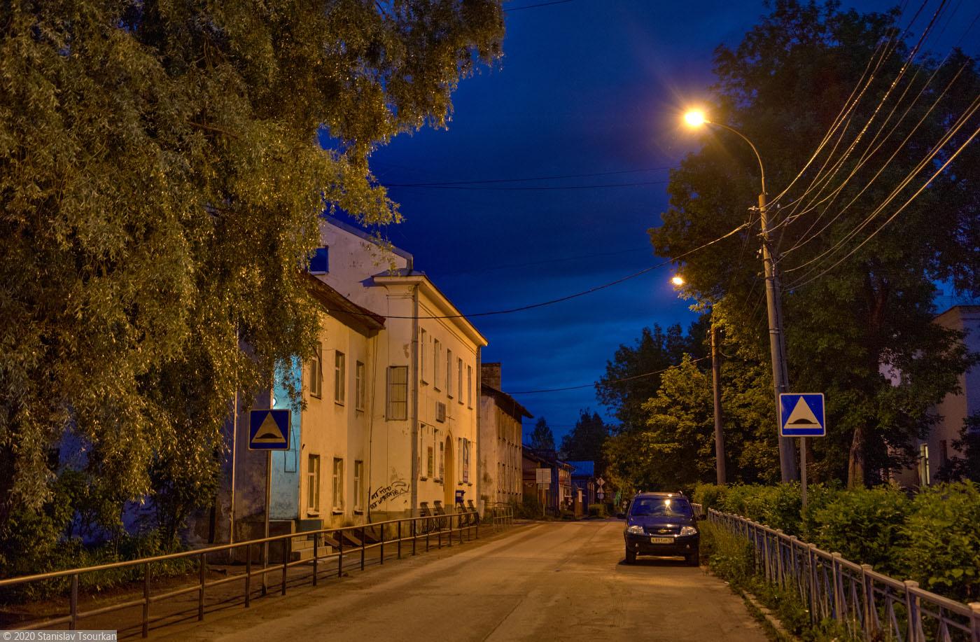 Сортавала, Карелия, республика Карелия, вечер, вечер в городе, улица Горького
