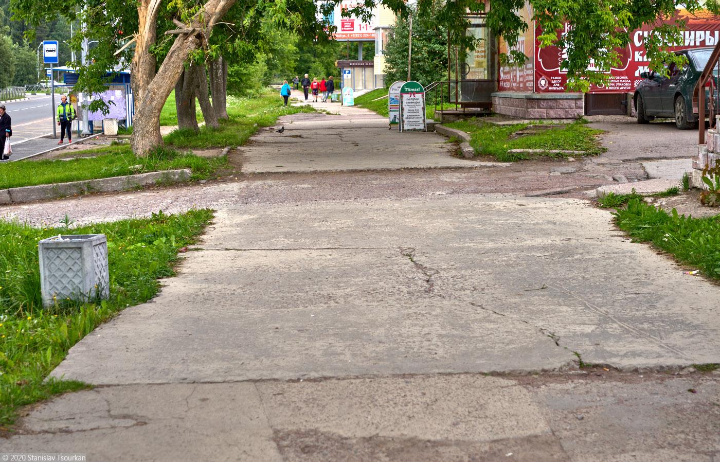Карелия, республика Карелия, Сортавала, russia, karjala, sortavala, бетонный тротуар